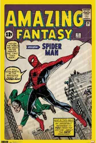 SPIDER-MAN - COMIC BOOK COVER  MARVEL CLASSIC AMAZING SILK POSTER Decorative Wall paint 24x36inch