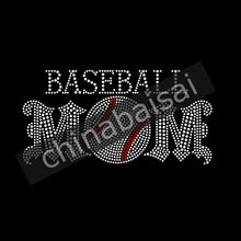 Rhinestone Baseball MOM Iron on Transfers Wholesale Crystal Stones25 Pieces  Lot b5251f1044fc