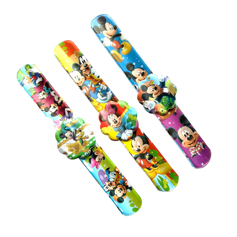 Aliexpress Com Buy 12pcs Cartoon Mickey Slap Bracelets