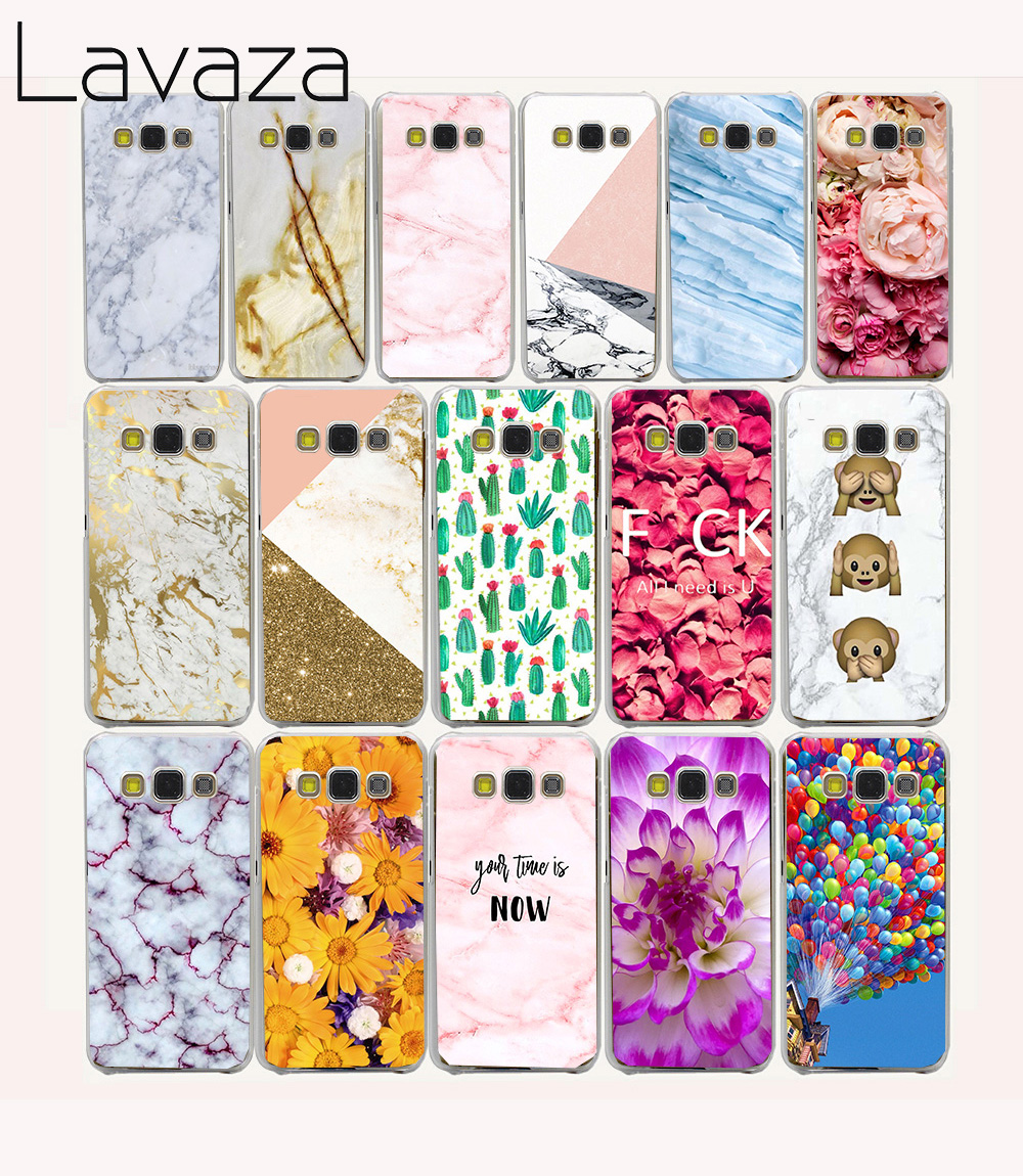 768e white marble Hard Case Cover for Galaxy A3 A5 A7 A8 J5 J7 Grand 2 Prime Note 2 3 4 5