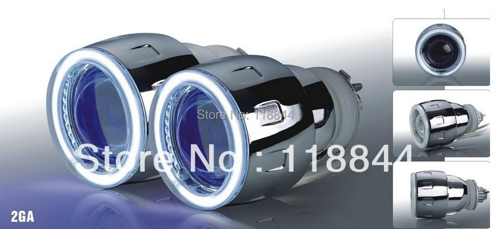 35W Projector Lens Headlight kit 9004 9005 9006 9007 H1 H7 H4 H13 G5 2.5 inch HID Bixenon Projector Lens Angel Eyes Light 2 5inch bixenon projector lens with drl day running angel eyes angel eyes hid xenon kit h1 h4 h7 hid projector lens headlight