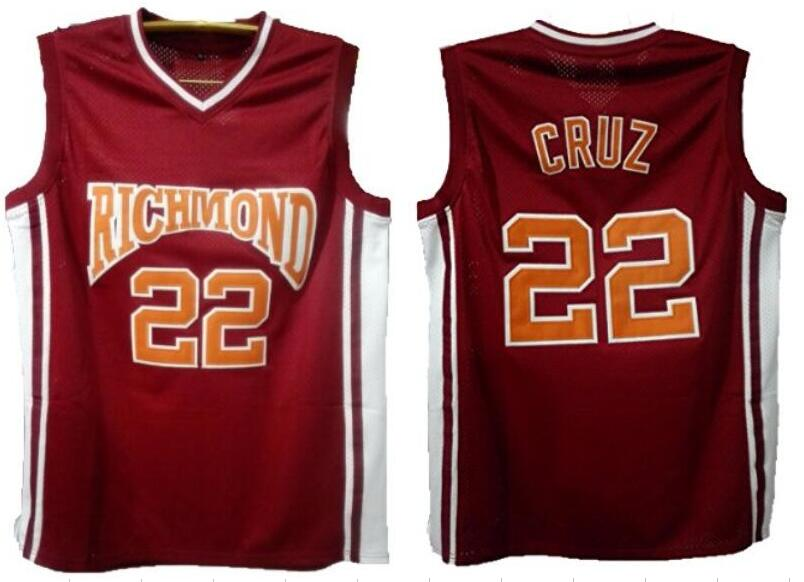 7b13fbe34 Double Stitched Jersey Timo Cruz 22 Richmond Oilers Home Basketball Jersey  Color Red Movie Jersey Vintage Basketball Jersey