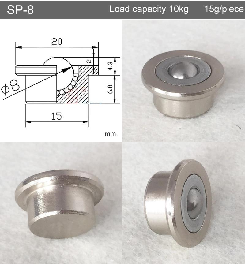 Roulement à billes/roue universel de précision SP-8/12/15/22/25, rouleau flexible, roue de système de Transmission
