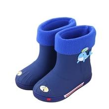 MXHY/Новинка; модная классическая детская обувь из ПВХ; резиновая детская обувь с героями мультфильмов; детская водонепроницаемая обувь; непромокаемые Boots30-35