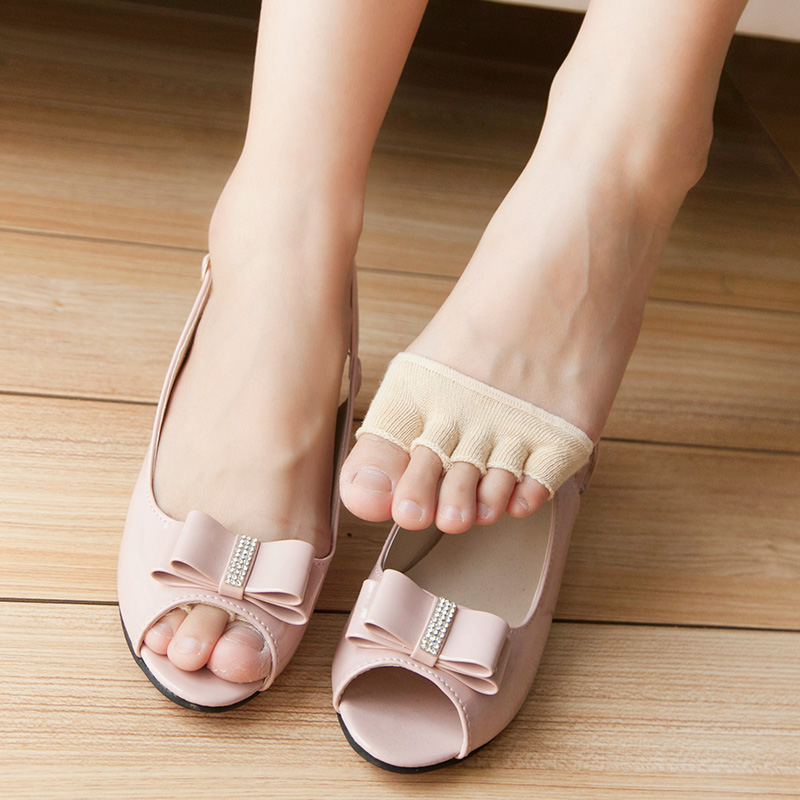 1Pair Soft Fabric Gel Of Forefoot Pad Posture Correction High Heels Cushions Forefoot Pain Relief Foot Pad Shoes Pads Massage