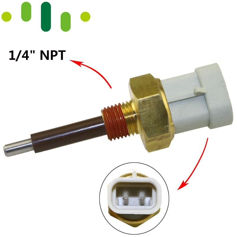 "Water Coolant Temperature Temp Lvl Level Sensor Sender For Detroit Diesel Series 50 60 92 DDC DDE S60 1/4"" NPT 02187 04 23520380|sender| |  - title="