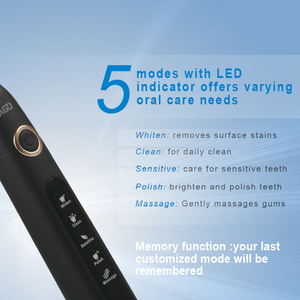 Image 2 - SEAGO 초음파 전기 칫 솔 USB 충전식 칫 솔 3pcs 교체 머리 스마트 타이머 칫 솔 SG507B