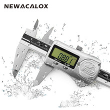 Big discount NEWACALOX 150mm/6inch IP67 Precision Digital Vernier Caliper Industrial Waterproof Oilproof with ABS/INC System Measurement Tool