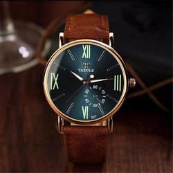 Лидер продаж роскошные модные кожаные мужские стекло Аналоговые кварцевые наручные часы Серебристые римские цифры часы Relogio Mascul 40Q