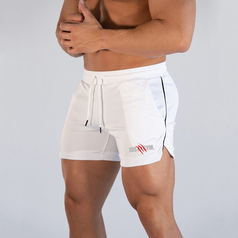 Brand Summer Fitness Men's Mesh Breathable Beach Shorts Men Elastic Quick Dry Short Pants Thin Gyms Shorts Joggers Shorts Male