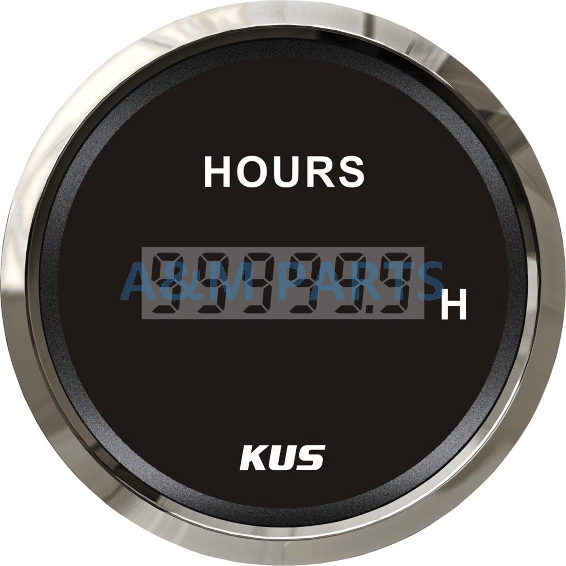 KUS Marine Engine Hour Meter for Boat Outboard Hour Meter Gauge 12//24V