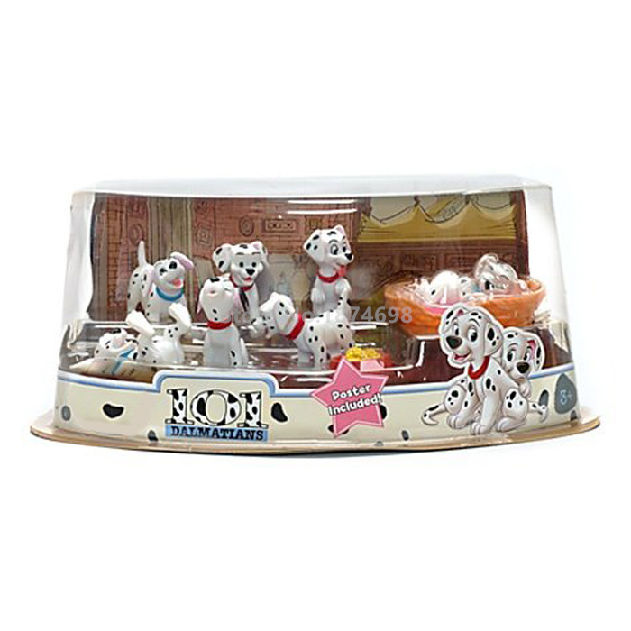 New 101 Dalmatians Dog Exclusive 7 Piece Mini PVC Figure Set Toys for Kids Children Gifts