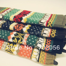 Autumn winter snow Knitted Leg Warmers Boot Covers 24 pairs/lot mixed colors #3429