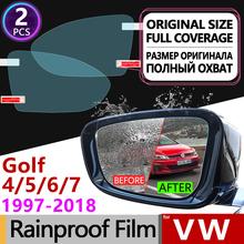 Dla Volkswagen VW Golf 4 5 6 7 Sportsvan 1997-2018 Anti Fog filmów lusterko wsteczne akcesoria do lusterek Golf MK4 MK5 MK6 MK7 1J 1K 5K 5G tanie tanio Naklejki Words Klej naklejki Włókno węglowe Golf 4 5 6 7 Sportsvan JIIYE Inne 4inch 1 5inch Jest dostarczana