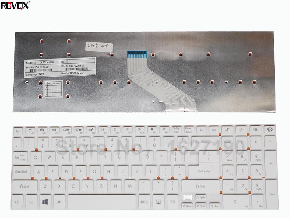 Новая Клавиатура ноутбука США для шлюза NV55 белый WIN8 PN: PK130HQ1A00 ремонт Тетрадь замена клавиатуры