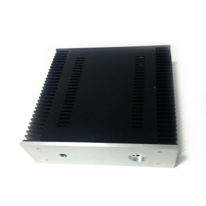 3209 Full aluminum class A power amplifier Chassis/Case/Enclosure/Box 320*90*311 4308 rounded chassis full aluminum enclosure power amplifier box preamplifier chassis