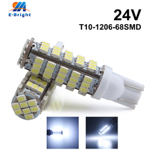 4-100pcs DC 24V T10 1206 68 SMD LED Bulbs W5W 194 168 Car Indicator Reading License Plate Clearance Lights White Free Shipping free shipping 100pcs smd bi directional trigger db3 lldb3 ll34 1206