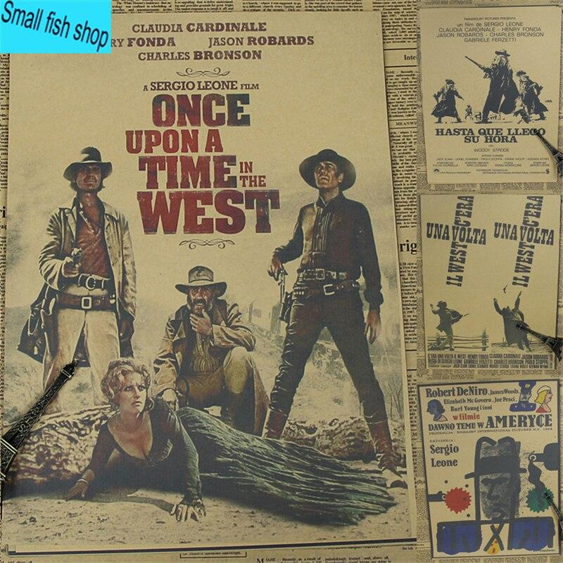 Once Upon a Time in America/Giu la testa Home Furnishing decoration Kraft Movie retro Po ...