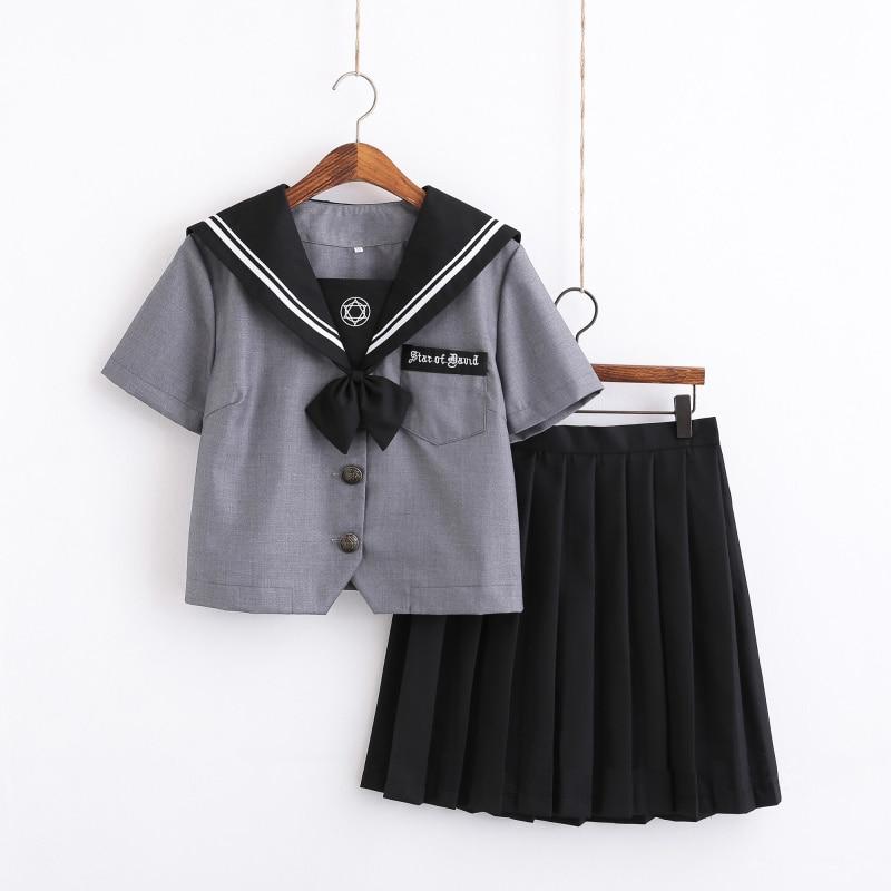 UPHYD Kawaii School Uniform Navy Japanese Class Sailor Suit JK Uniforms Academic School Girls Chorus Student Uniform