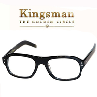 Kingsman Eyeglasses Secret Service Golden Circle Eggys Cosplay Top Acetate Frame Clear Lens Eyewear For Man British Style