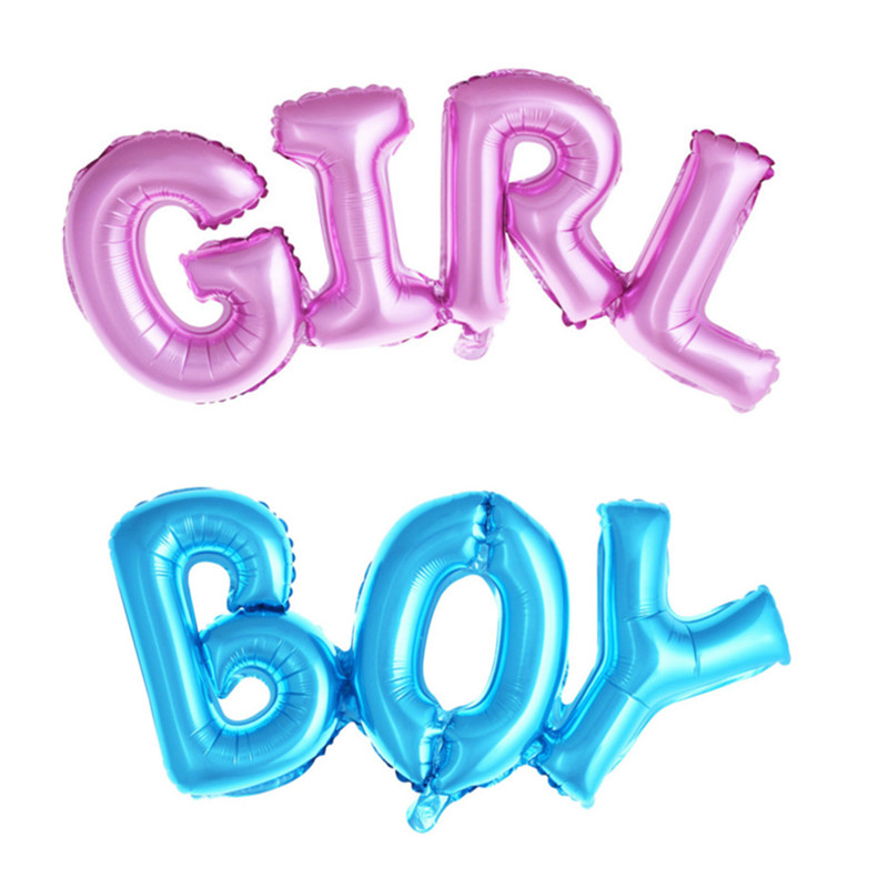 1 piece Baby Girl Balloons Blue and Pink Balloons Children Birthday Balloons Bir