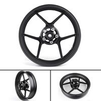 Areyourshop Front Wheel Rim for Kawasaki ZX6R 2009 2010 ZX10R 2006 2010 Black US Shipping Motor Wheel Motorcycle Accessories