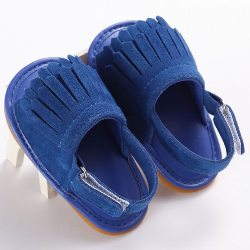 16 Colors Hot Sale Baby Sandals Summer Leisure Fashion Baby Girls Sandals of Children PU Tassel Clogs Shoes