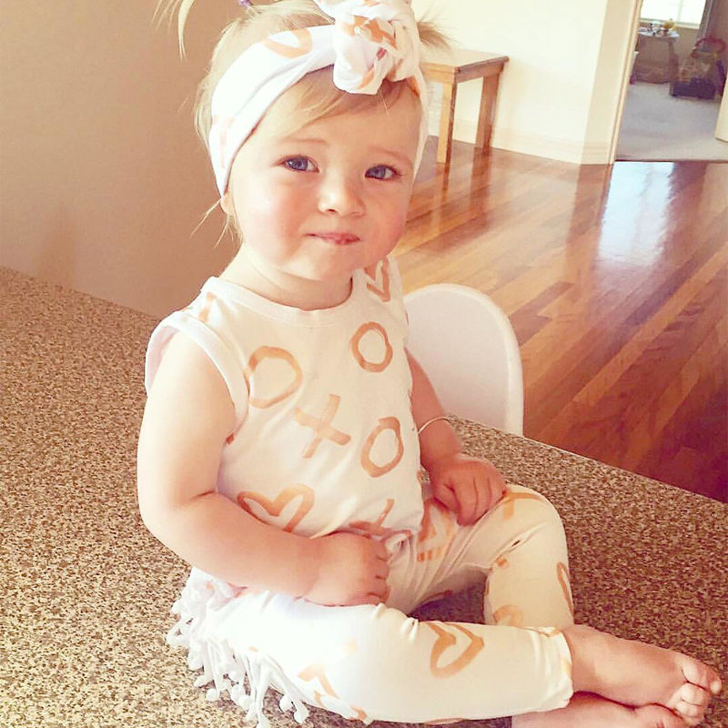 Baby Girl Clothes Newborn Kids Baby Girl Rompers Clothes Headband Cotton Romper Jumpsuit Girls Romper Outfits Clothing 2pcs