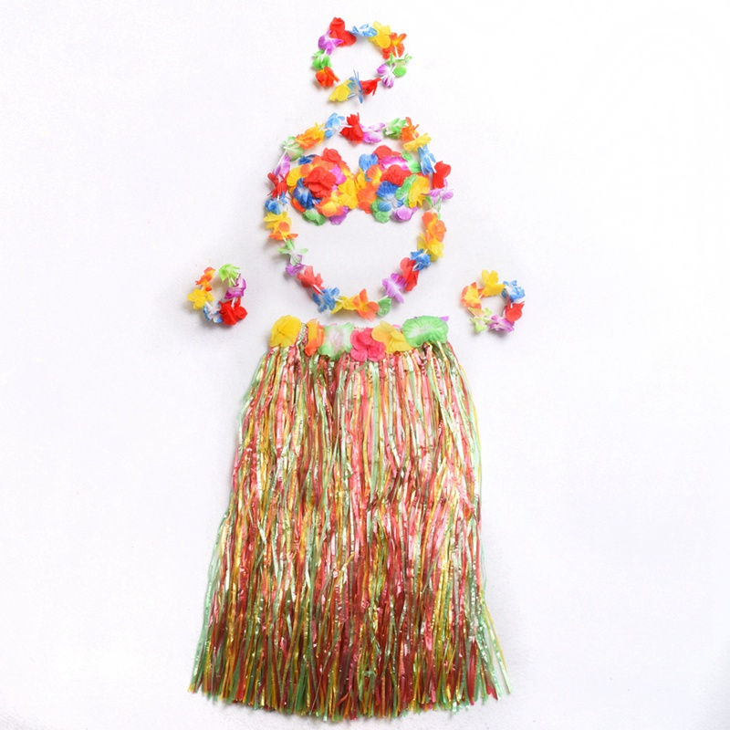 Women Adult Hawaiian Luau Grass Hula Skirt Danceing Skirts Dress For Holiday Party Costume