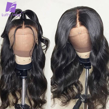 Luffy Brazilian Glueless Full Lace Wigs Human Hair Pre Plucked With Baby Hair Bleached Knots Wavy