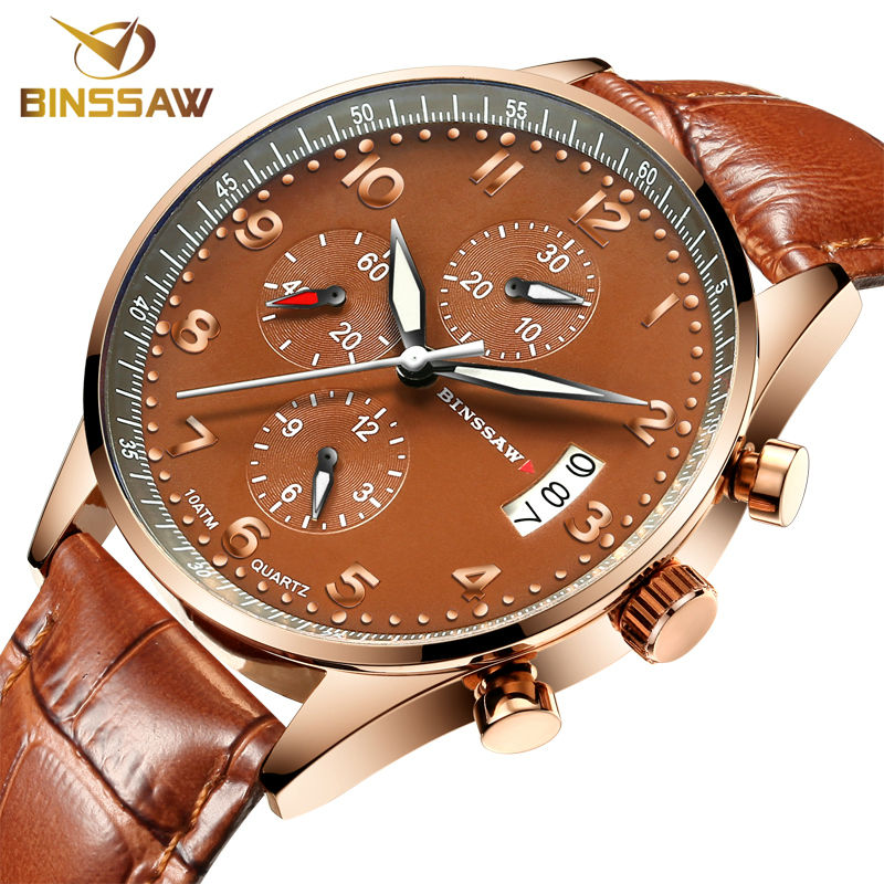 Watches Men Luxury Top Brand BINSSAW New Fashion Men's Big Dial Designer Quartz Watch Male Wristwatch relogio masculino relojes men s fashion brand quartz watch big dial silicone watches male high quality business leisure sports gift wristwatch new hour