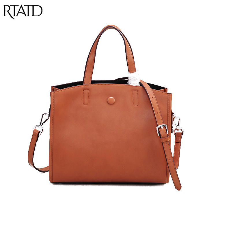 RTATD New Famous Brand Design Women Shoulder Bags Chic Simple High Capacity Lady Handbags Hasp Female Crossbody Bag B275 retro women s crossbody bag with hasp and suede design