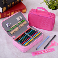72 Holders 4 Layer Portable Oxford Canvas Pencils Case Pouch Brush Pockets Bag Pen Holder Case