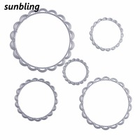 Sunbling Christmas Metal Cutting Dies Festive Wreath Flower Stencils For Painting DIY Folder Decorative Card Paper
