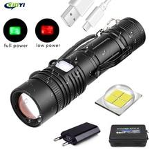 60000LM Flashlight XHP50 LED Flashlight USB Rechargeable Torch Zoom Flashlight T6 Flashlight Lantern with 18650/26650 Battery