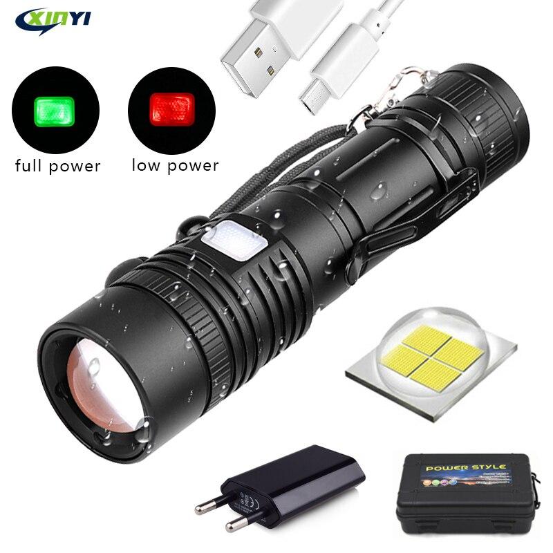 10000linterna LED recargable E17 L2 T6 de aluminio impermeable linterna
