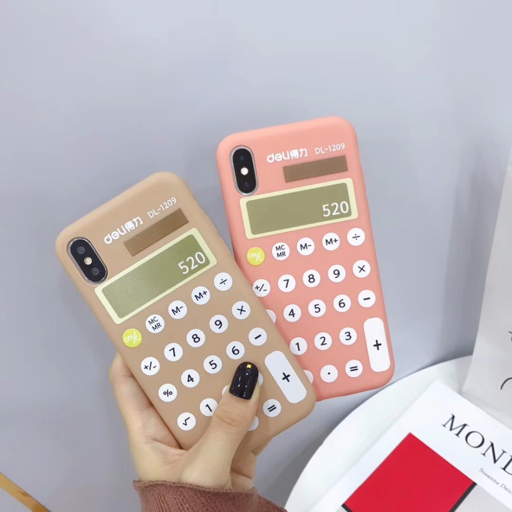 Funny calculator Painted Phone Case For iphone XS Max XR X
