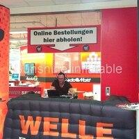 Индивидуальные надувные регистрации надувные счетчик inflatble бар, киоск booth для рекламы