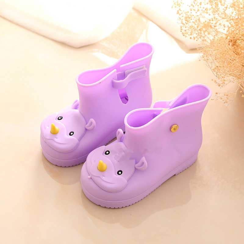girls rain Boot kids shoes candy color smell baby todder adorable mini melissa fashion boots non slip water shoes Sapato