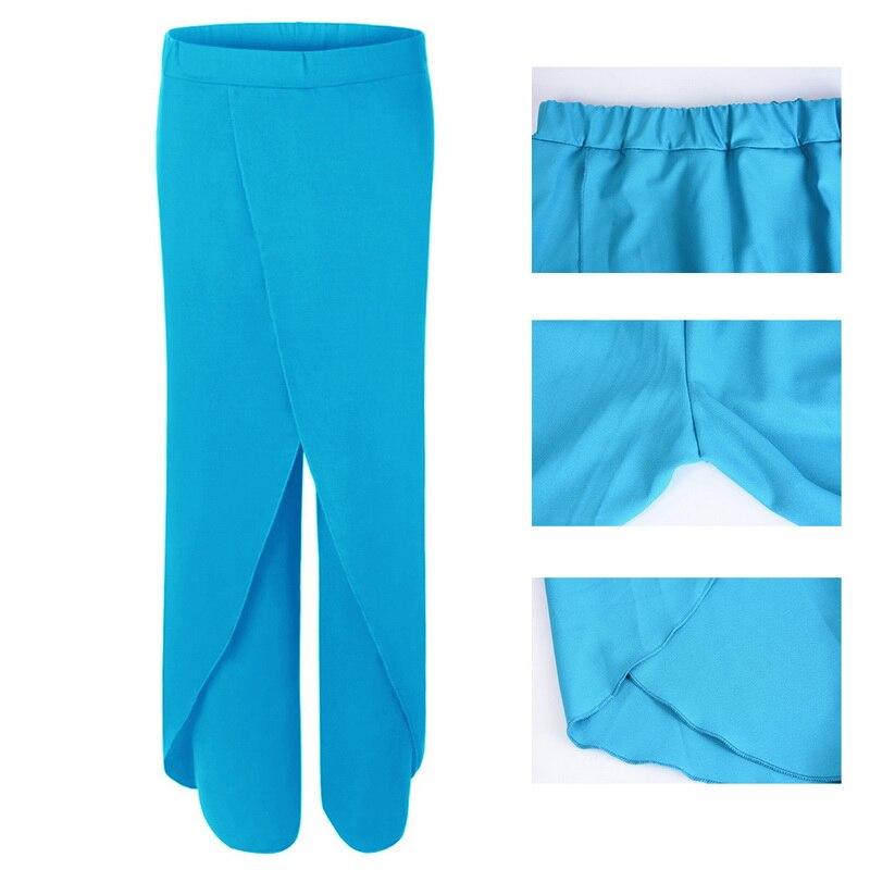 LASPERALPlus Boyutu Pantolon Kadın Moda Katı Yüksek Bel Geniş - Bayan Giyimi - Fotoğraf 5