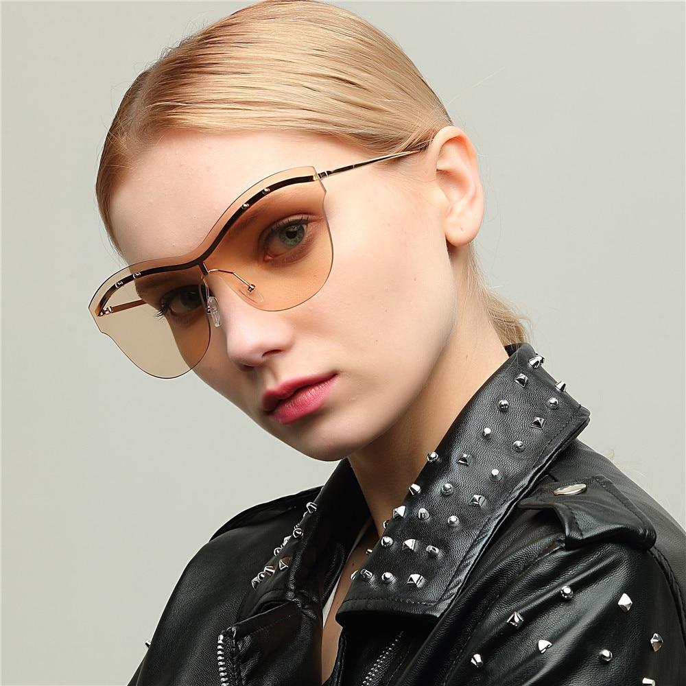 Women's Sunglasses Persevering Mimiyou Ntegrated Transparent Women Eyeglasses Vintage Fashion Sun Glasses Men 90s Sunglasses 2018 Oculos De Sol Feminino Women's Glasses