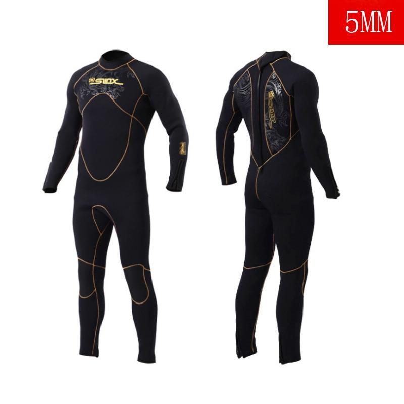 Adultes Plongée sous-marine Costume Hommes 5mm Plongée Combinaison Néoprène Équipement De Natation Surf Triathlon Humide Costume Maillots de Bain Complète Body