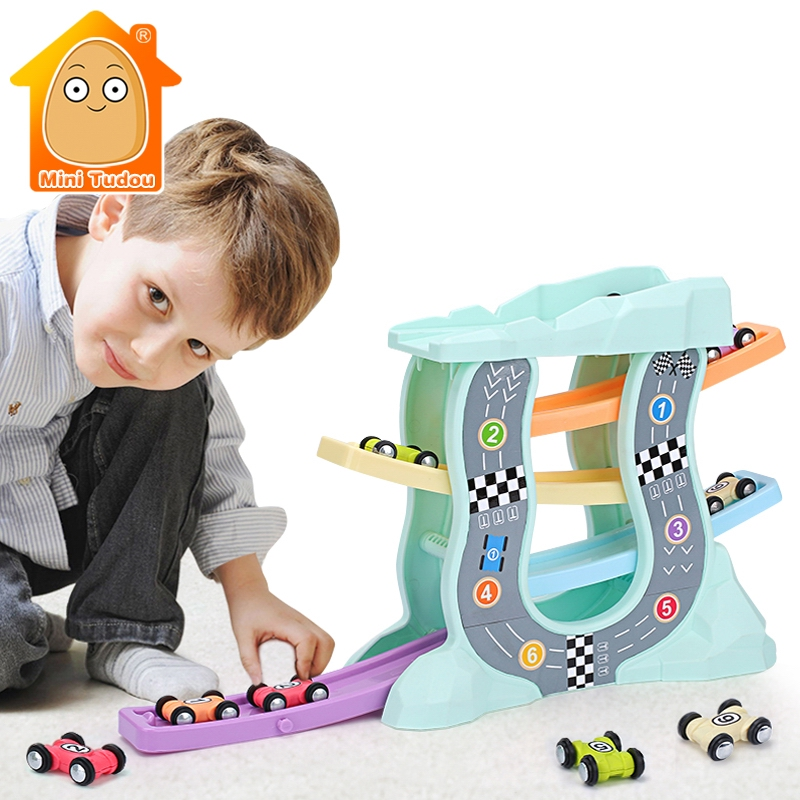 Magic Racing Cars Model Toys For Children Ramp Racer Railway Track With Gliders Little Car Toy For Boys Birthday Gifts Kids image