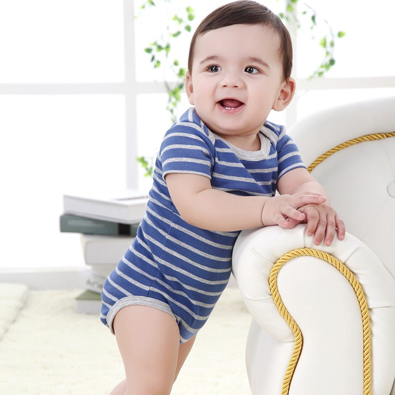 Promotion 23 Styles Baby Romper Boy & Girl Striped Short Sleeves Next Jumpsuit New Born Baby Clothes Infant Newborn Boy Body 25