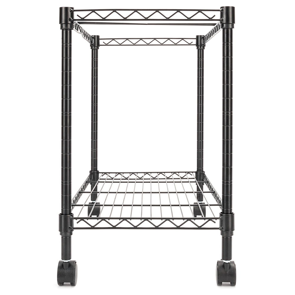 Single Tier Metal Rolling Mobile File Cart 23.6 X 12.6 X 18