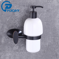 Solid Brass Ceram ORB Oil Rubbed Bronze 500ml Hand Soap Dispenser Ceramic Container Brass Holder Hook