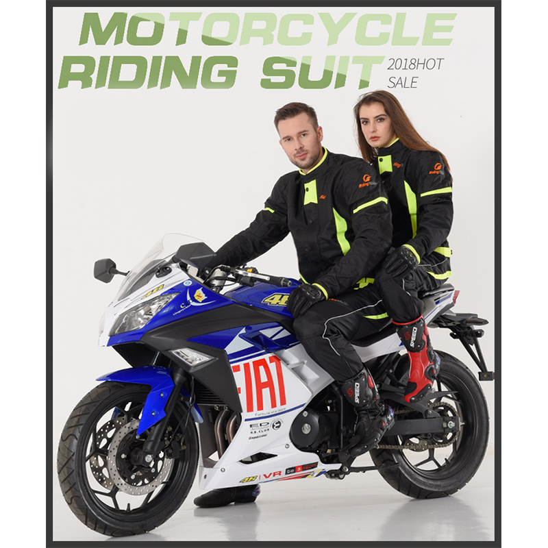 NEW ARRIVE Riding Tribe Black Reflect Racing Winter Jackets and Pants Motorcycle Waterproof Jackets Suits Trousers