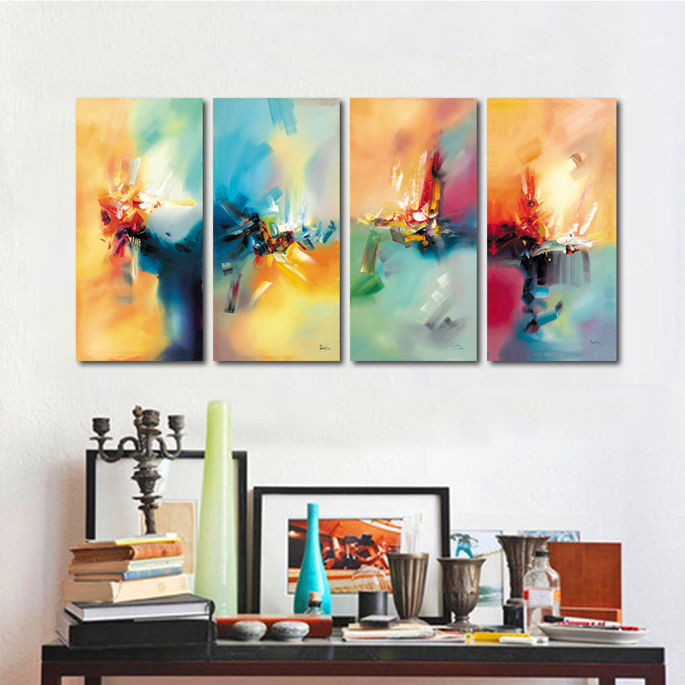 Unframed HD Canvas Painting Abstract Color Brush Texture Wall Pictures For Living Room Wall Art Decoration 2018 Dropshipping