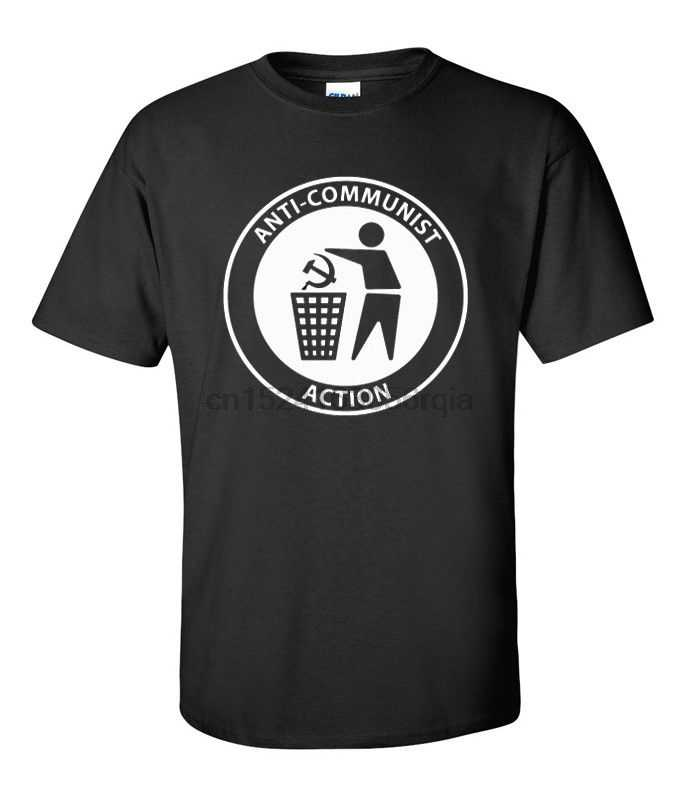 ANTI COMMUNISTISCHE ACTION T-SHIRT patriottische skinhead maten SML XL 2X 3X 4X 5X
