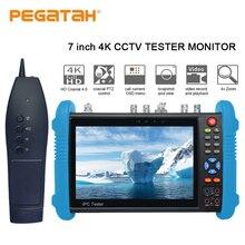 7-дюймовый H.265 4 K IP тестер SDI IP TVI CVI AHD CCTV камеры тестер поддержка TDR оптической мощности HDMI безопасности Камера тестер и tracer